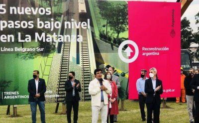 La Matanza tendrá cinco nuevos pasos bajo nivel para la línea Belgrano Sur