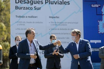 Cascallares, Katopodis y Guzmán lanzaron obra histórica para Longchamps y Burzaco