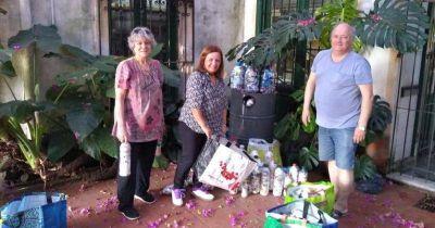 Reciben botellas con plástico en desuso para reciclar y ayudar