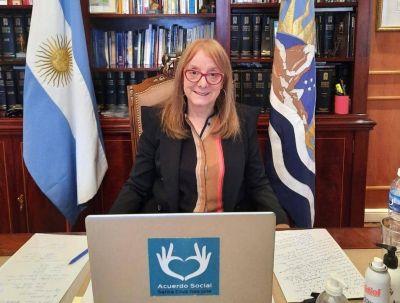 Alicia Kirchner felicitó a Luis Arce, el nuevo presidente de Bolivia