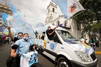 El Frente Sindical celebró la Gran Caravana y felicitó a Evo Morales por la victoria del MAS