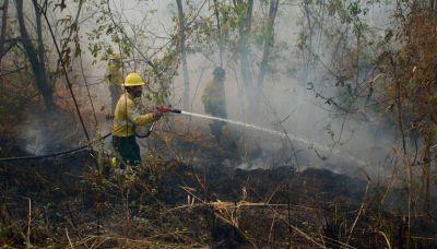 Continúa el combate contra el fuego en las Yungas y las llamas avanzan sobre áreas protegidas