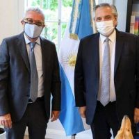 El presidente Alberto Fernández recibió al intendente Julio Zamora en la Quinta de Olivos