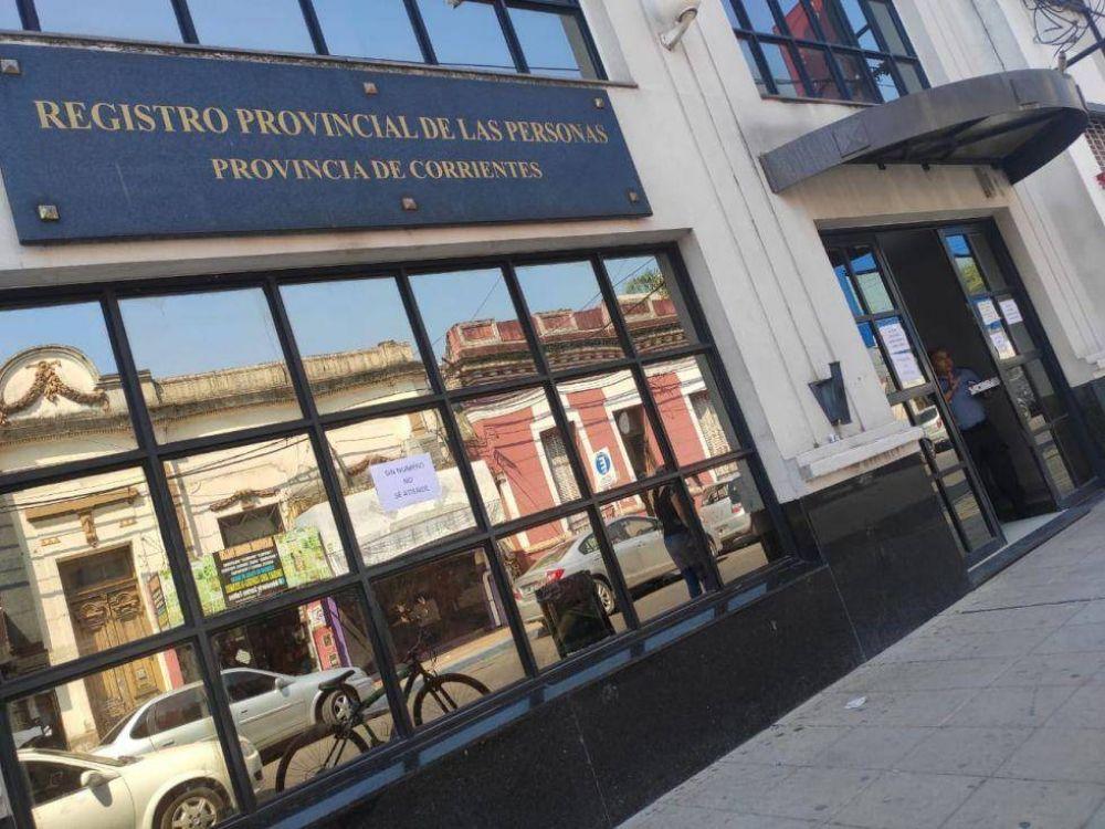 Cierran el edificio del Registro Civil por caso positivo de covid