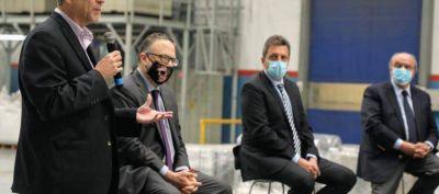 Ferraresi y Sergio Massa participaron del anuncio de líneas de créditos y financiamiento para PYMES