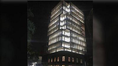 Culminaron las pruebas del sistema de iluminación del nuevo edificio del Tribunal de Cuentas
