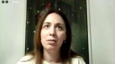 """María Eugenia Vidal: """"No me fui a ningún lado, mi vocación sigue intacta y queremos empezar otro ciclo"""""""