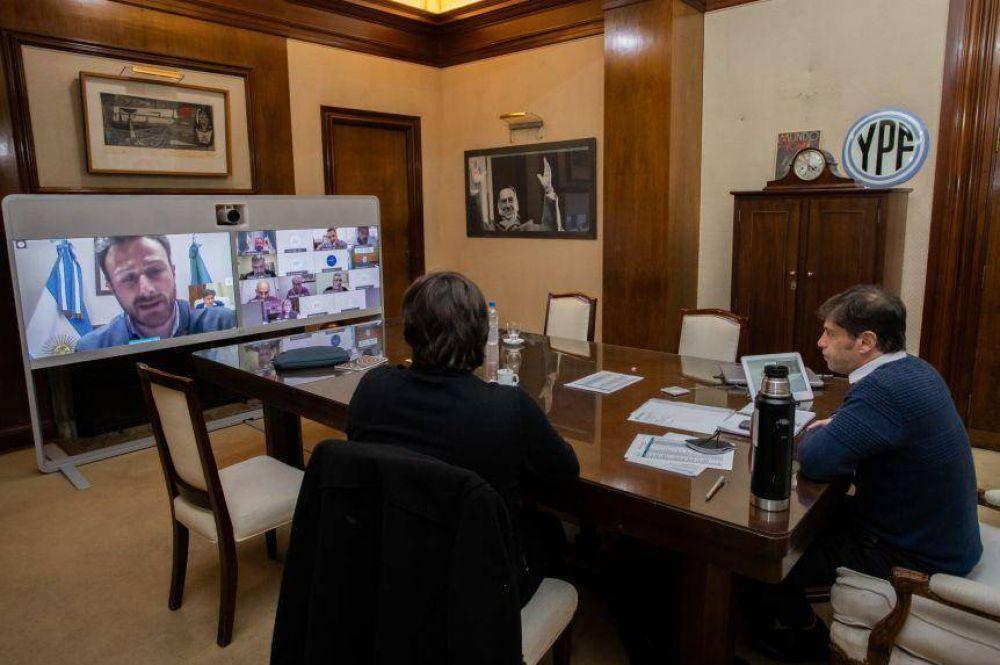 Preocupación por el avance de los casos: Kicillof y su equipo, cara a cara con los intendentes del interior
