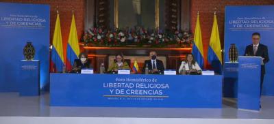 """Foro hemisférico para la libertad religiosa: """"Demanda coraje y determinación convivir en forma pacífica"""""""