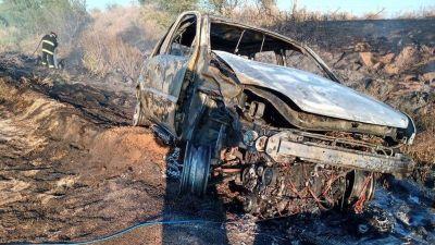 Se quemó todo el auto, menos la estampita de la Virgen
