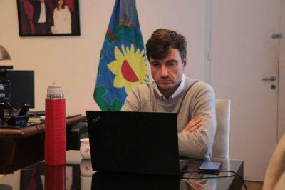 Morón. Lucas Ghi se reunió con el gobernador Axel Kicillof y otros intendentes e intendentas para analizar la nueva fase del aislamiento