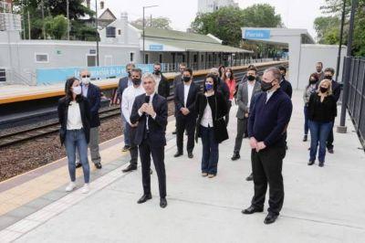 Meoni inauguró la renovada Estación Florida en Vicente López
