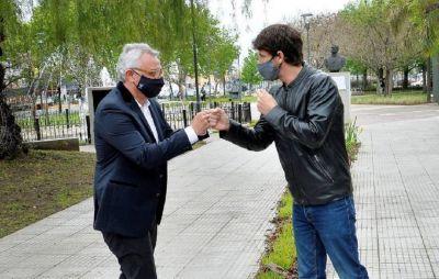 Zamora y Andreotti inauguraron la remodelación de las plazas de Canal