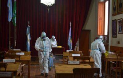 Desinfectaron el recinto y las oficinas del Concejo Deliberante