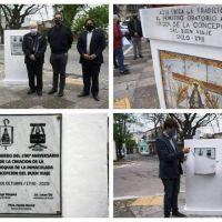 Morón: Descubrieron una placa en la primera posta de la Virgen del Buen Viaje