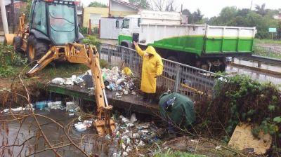 Tareas preventivas y de limpieza durante las lluvias