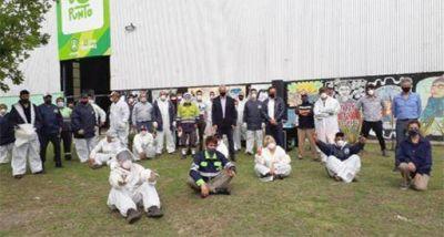 El EcoPunto municipal recibió la visita del Ministro de Ambiente y Desarrollo Sostenible de la Nación