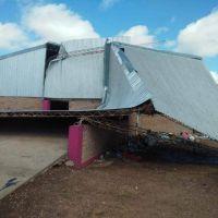 El temporal generó destrozos en la Planta de Residuos Sólidos de Pampa del Infierno