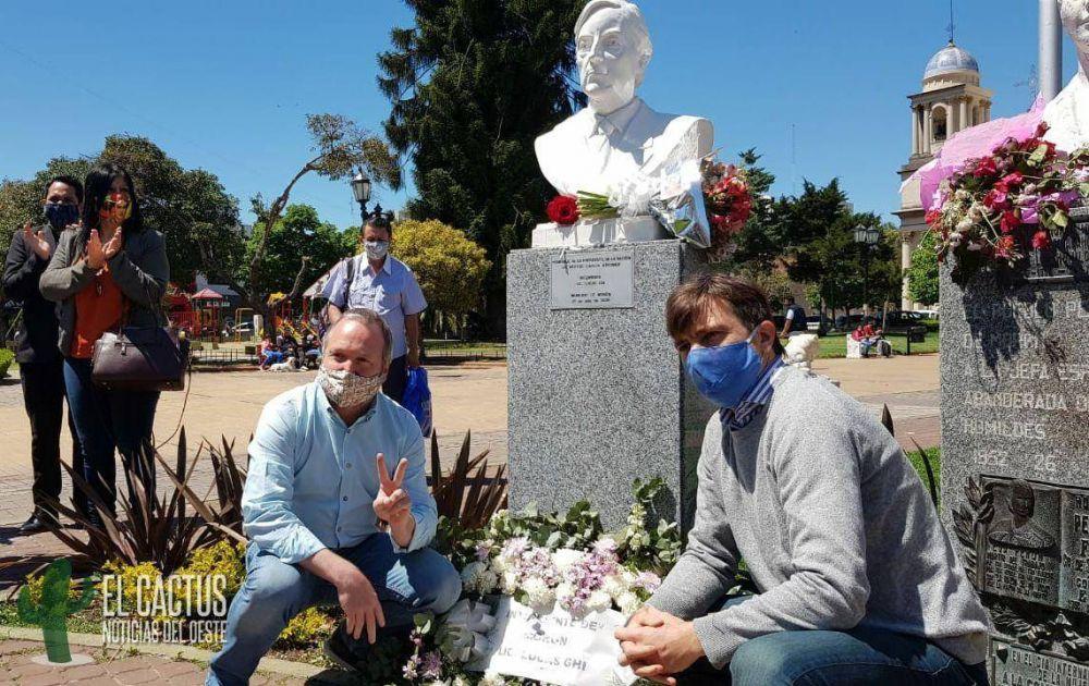 Lucas Ghi y Martín Sabbatella encabezaron el acto homenaje a Néstor Kirchner en Morón