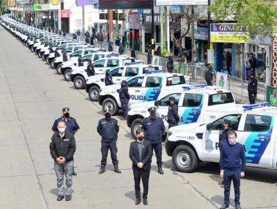 Fernando Gray y Axel Kicillof presentaron 60 nuevos patrulleros para Esteban Echeverría