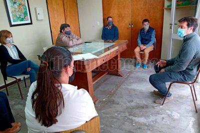 Los consejeros escolares se reunieron con el intendente Arturo Rojas