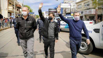 Kicillof entregó junto a Gray 60 patrulleros y 300 cámaras de seguridad para Esteban Echeverría
