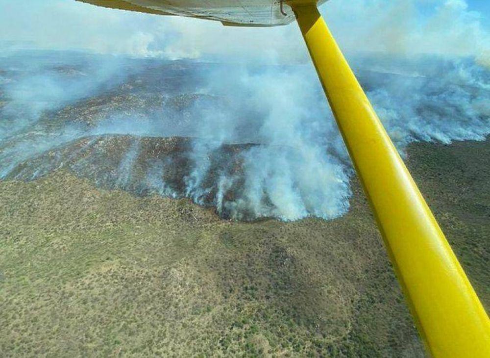 El incendio en Tulumba ahora se desplazó a Quilino