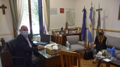 Con la visita de Agustina Vila, Ameghino retomó las clases presenciales
