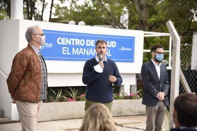 Achával inauguró el Centro de Salud El Manantial junto a Gollán y Simone
