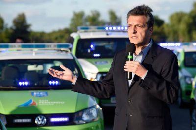 """Massa, en la presentación de nuevos móviles y cámaras en San Fernando: """"Vivir en estado de derecho significa respetar la ley"""""""