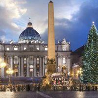 Navidad 2020: Inauguración del árbol y del belén de la plaza de San Pedro