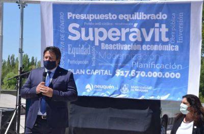 Gaido presentó más de mil millones de superávit para Neuquén