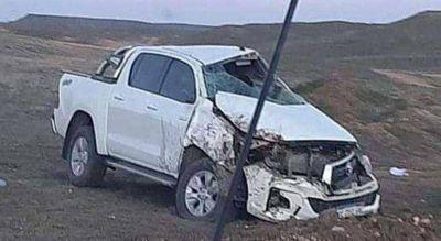 Funcionarios de Río Negro sufrieron un grave accidente