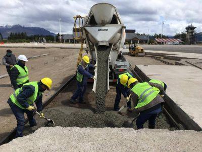 Avanzan las obras en el aeropuerto Chapelco preparándose para el regreso de los vuelos comerciales