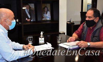 Cotillo recibió a Julián Carrizo con agenda abierta