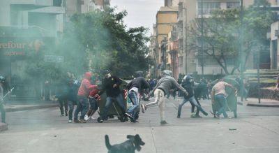 Masiva protesta del Suoem, con incidentes, detenidos y heridos