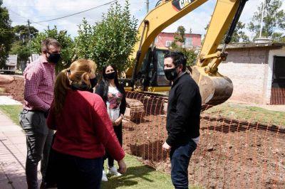 Nardini visitó obra integral de pavimentos en Grand Bourg