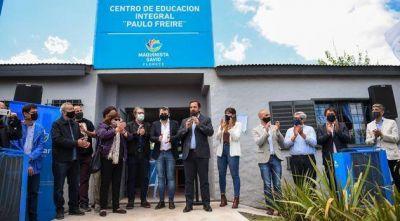 Se inauguró en Maquinista Savio un Centro Educativo Integral y de Oficios