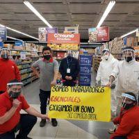 Empleados de Comercio de Capital reclama a los supermercados bono para trabajadores esenciales