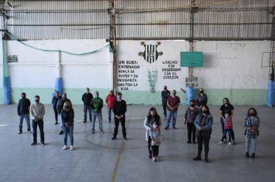 Ghi recorrió el Club Castelar y la Sociedad de Fomento San Juan tras el regreso de sus actividades deportivas
