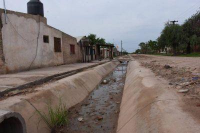 Avanza la construcción del canal para el desagüe pluvial de Ibarreta