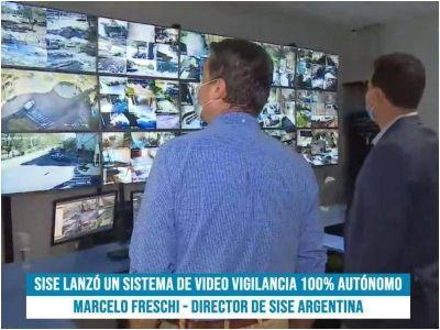 Capitanich participó de la presentación de sistema de cámaras de vigilancia en base a energía solar