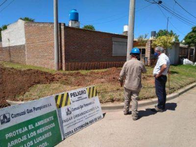 Ampliación de la red de gas natural en Barrio Bicentenario