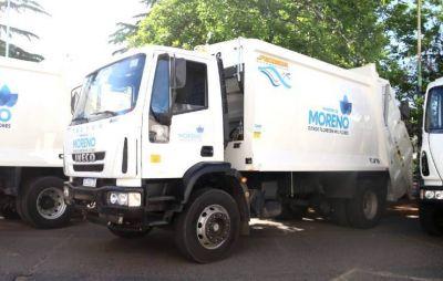 Mariel Fernández recibió nuevos camiones para la recolección de residuos en Moreno