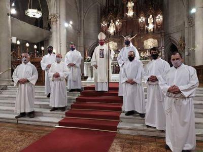 Walter de Santis participó de la ceremonia de admisión de la Escuela de Diaconado