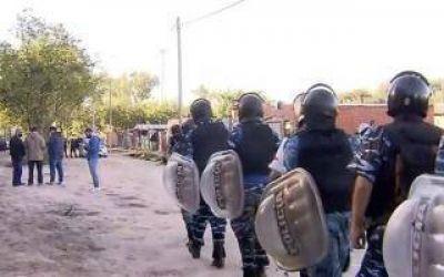 Primero Guernica, ahora Escobar: La Policía desalojó a 60 familias de un barrio construido en un predio privado