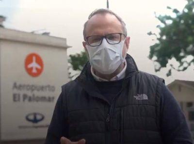 """El intendente Valenzuela advirtió que el aeropuerto de El Palomar """"corre peligro"""""""