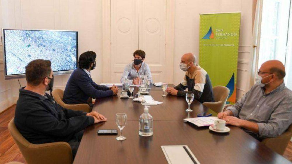 Juan Andreotti se reunió con autoridades de ADIF para avanzar en la construcción de espacios públicos