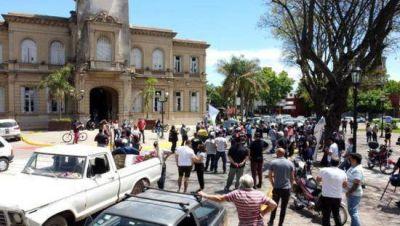Los municipales se manifestaron por las calles de la ciudad