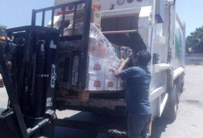 El municipio decomisó 400 litros de bebidas vencidas en una distribuidora de zona Sur